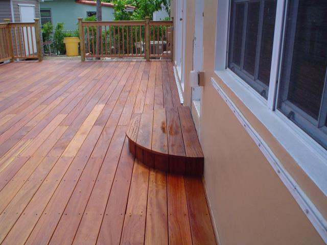 cumaru hardwood decking and step