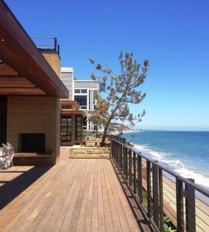 Ipe deck in malibu California
