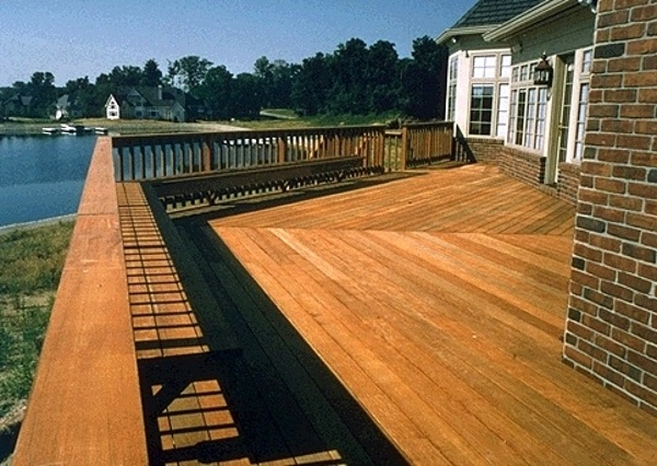 ipe deck with harbor view