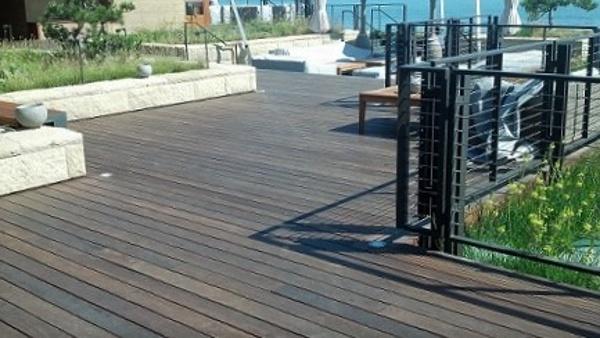 Mataverde Ipe hardwood at Malibu seaside deck