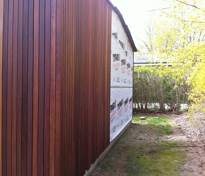 Cumaru Hardwood Rain Screen Siding Gallery